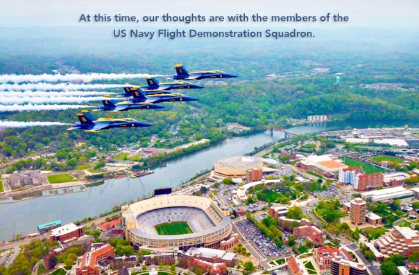 Blue Angels over Neyland